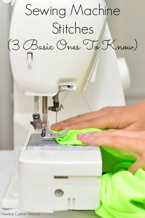 Sewing Machine Stitches from NewtonCustomInteriors.com