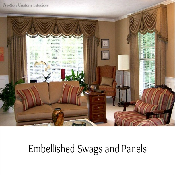 1000 images about draperies on pinterest valances for Living room valances and swags