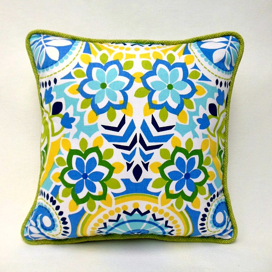 pillow with cording craft