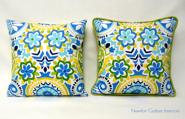 pillows with and without cording