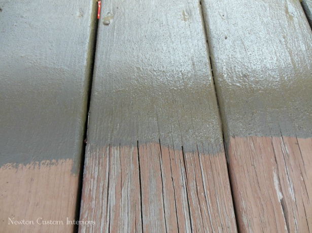 Deck Paint That Fills Cracks ~ How to re finish a deck newton custom interiors