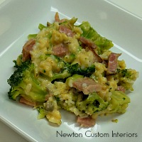 broccoli-and-rice-with-ham