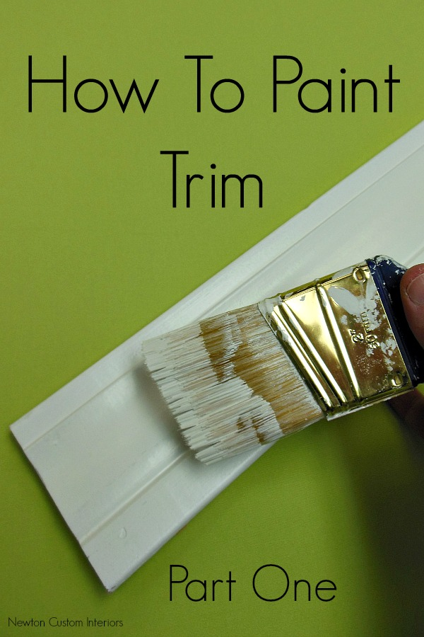 How to paint trim newton custom interiors for How to paint trim