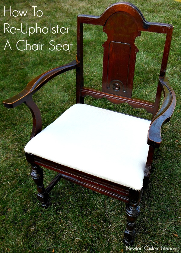 how to re upholster a chair seat. Black Bedroom Furniture Sets. Home Design Ideas