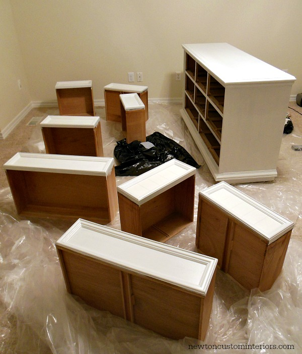 How To Paint Furniture - drawers and dresser painted