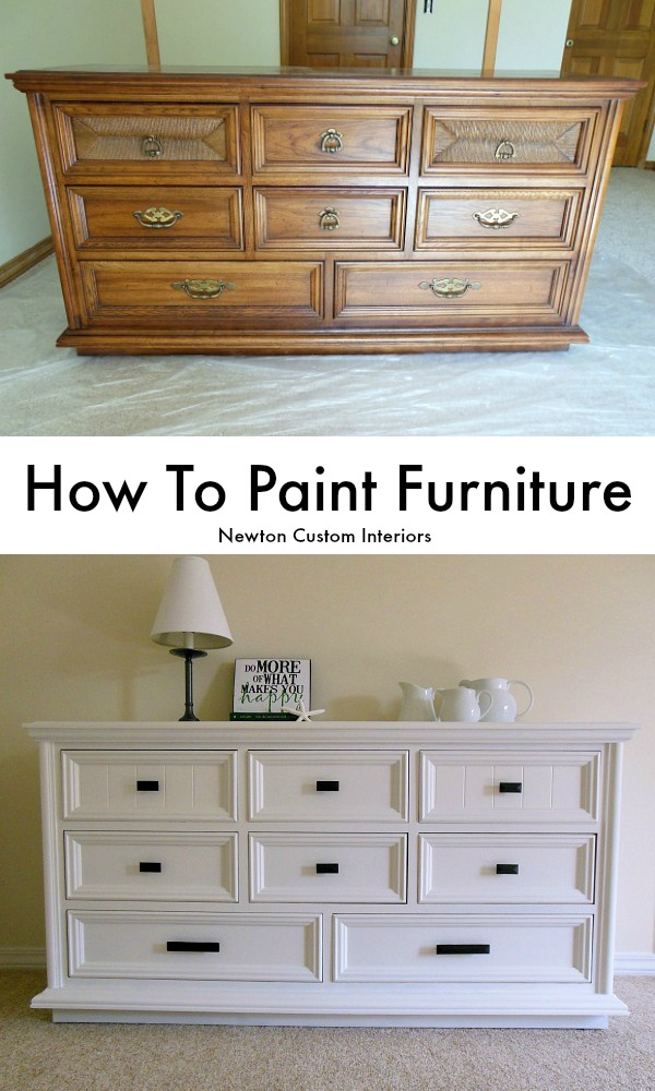 How to paint furniture newton custom interiors for Painting designs on wood furniture