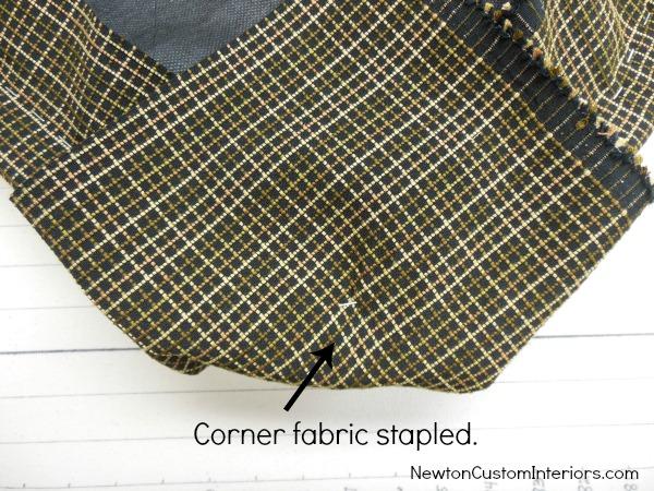 corner fabric stapled