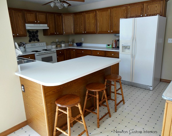 kitchen from dining area before