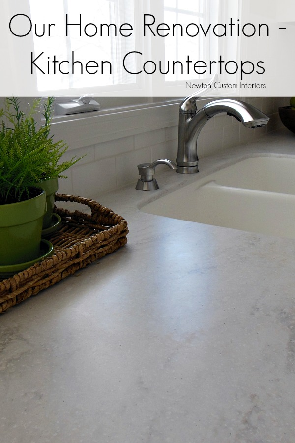 Our Home Rennovations - Kitchen Countertops from NewtonCustomInteriors.com