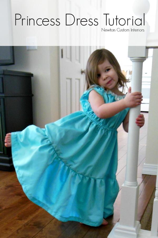 princess dress tutorial newton custom interiors