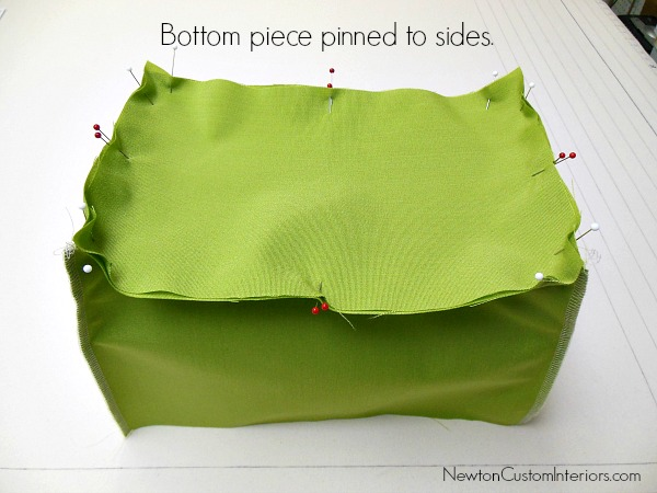 bottom pinned to sides