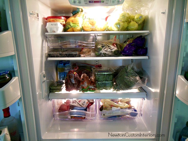 fruits and veggies refrigerator