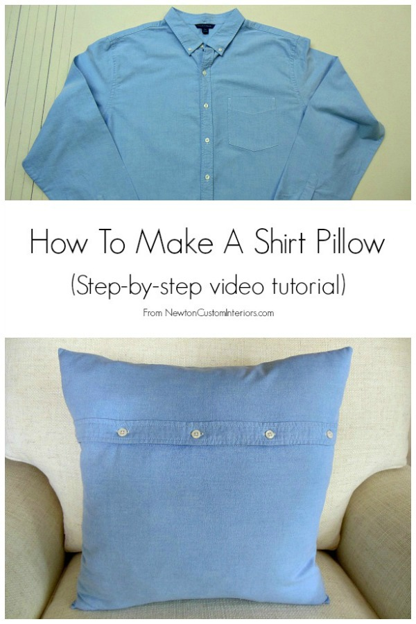 How To Make A Throw Pillow Out Of An Old T Shirt : How To Make A Shirt Pillow - Newton Custom Interiors