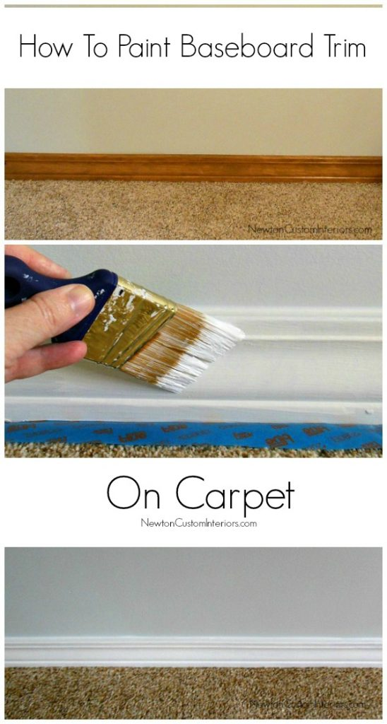 paint baseboard trim on carpet