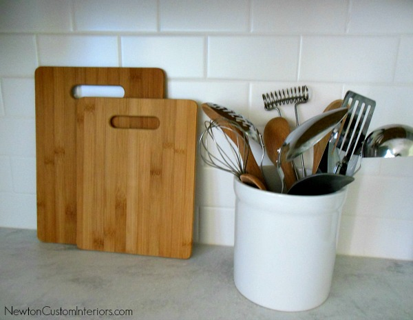 backsplash and cutting boards