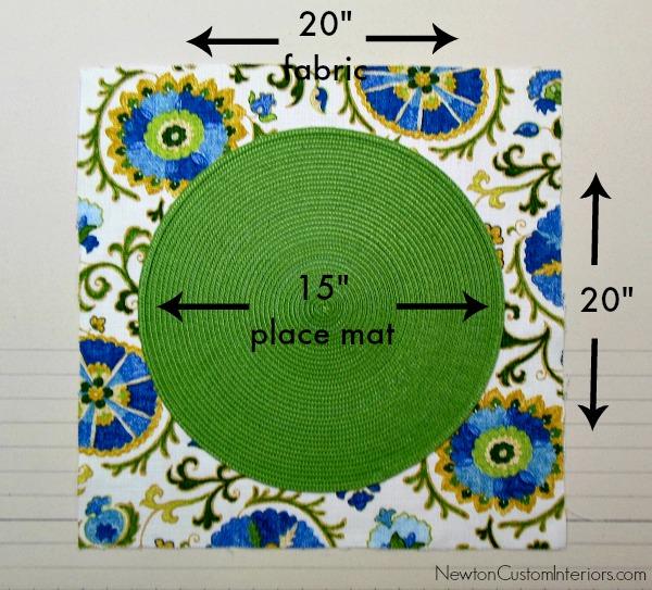 place mat fabric cut