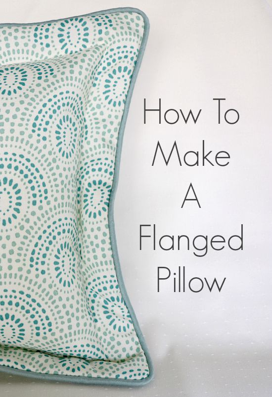 How To Make A Flanged Pillow from So Sew Easy