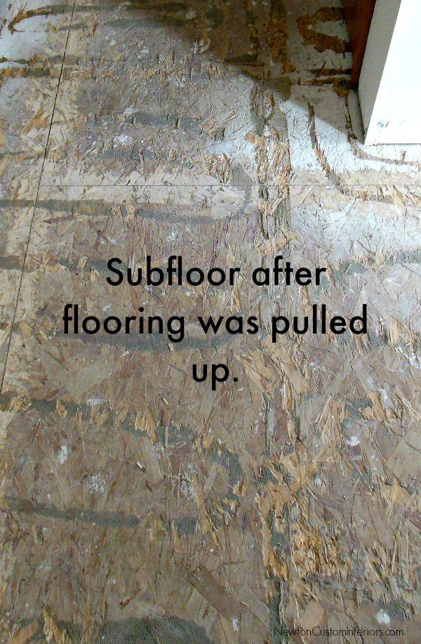 subfloor after