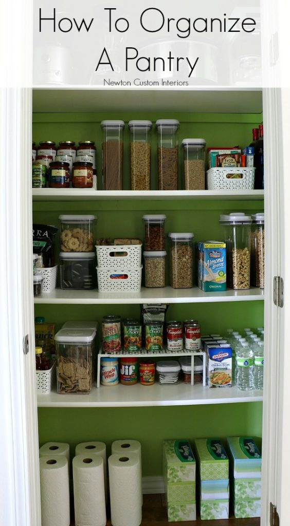 How to organize a pantry newton custom interiors for Organization ideas for kitchen pantry