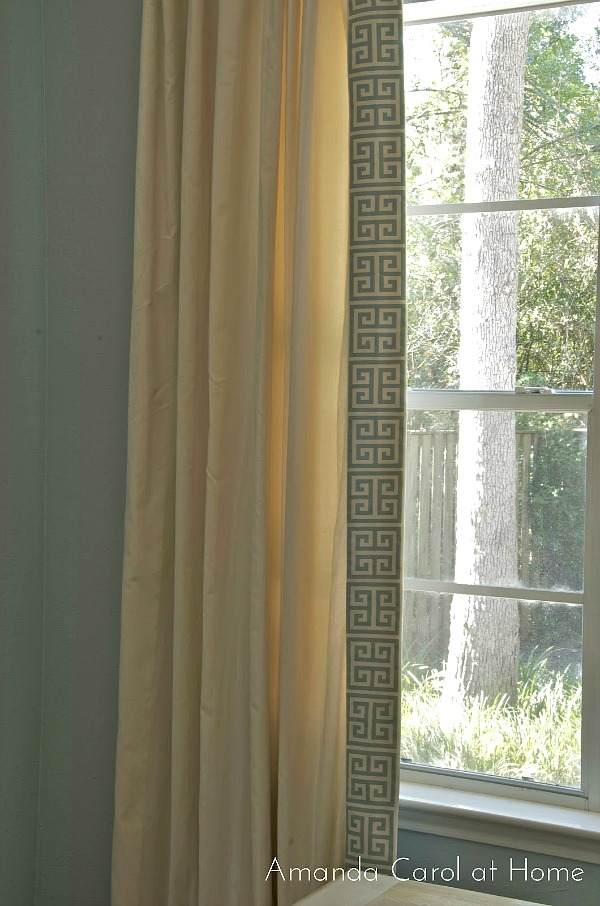 Amanda Carol Interiors Emerald Green Gold Mirrors: 5 Ways To Customize Store Bought Curtains