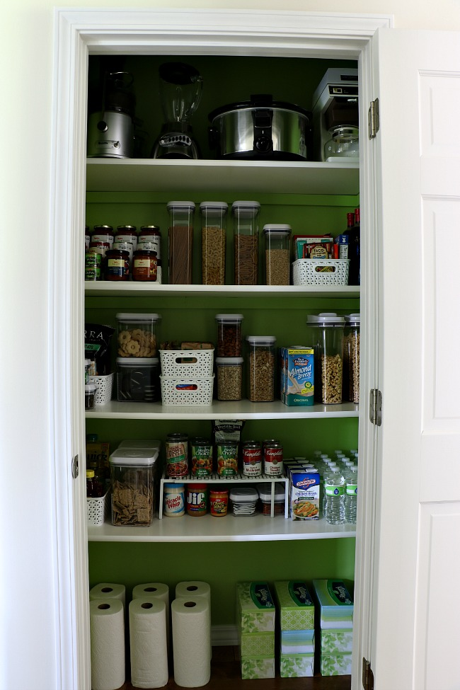 How To Organize A Pantry - Finished Pantry