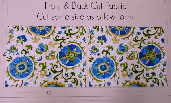 Fabric front and back