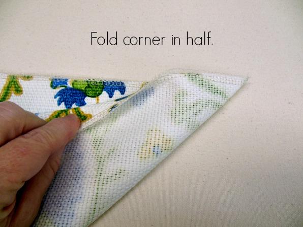 Fold corner in half
