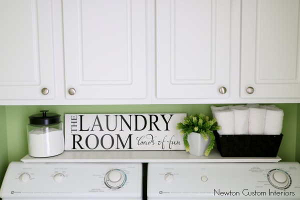 Organizing A Small Laundry Room With Shelf