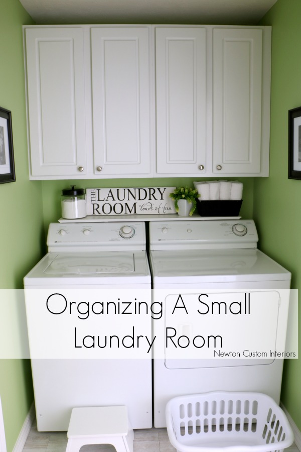 Organizing a small laundry room newton custom interiors - Making most of small spaces property ...