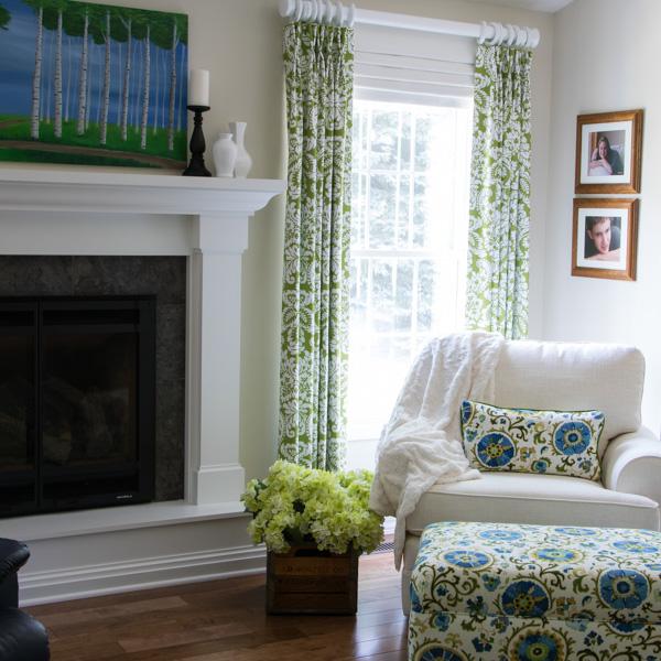 Living Room RomanShade Valance