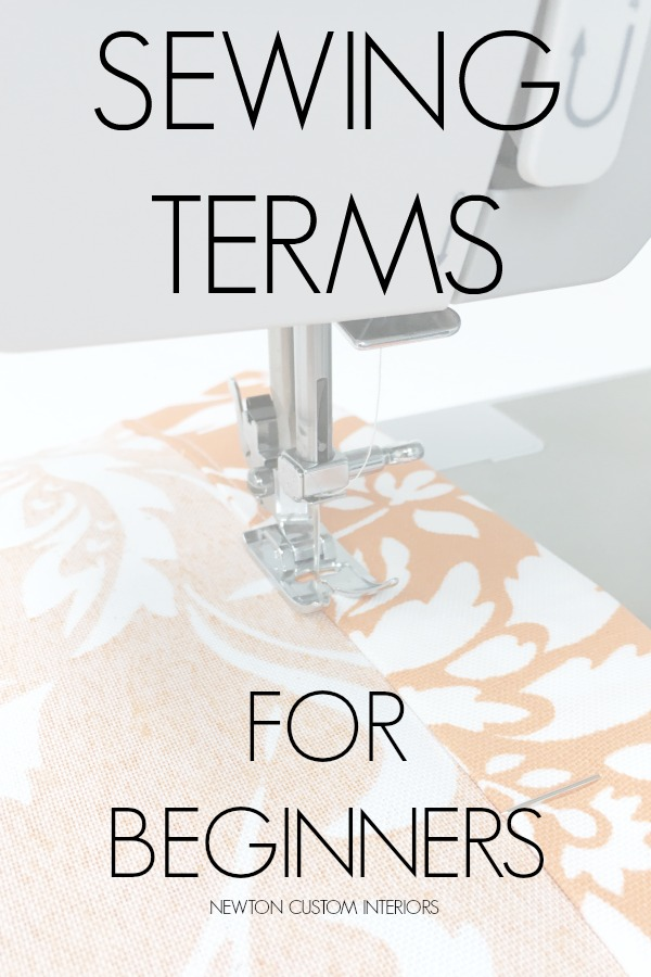 Sewing terms for beginners.