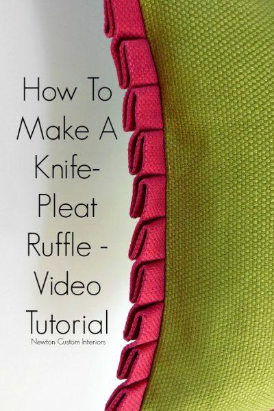 Knife Pleat Ruffle – Video Tutorial