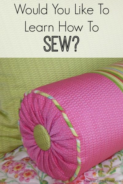 Would You Like To Learn To Sew?