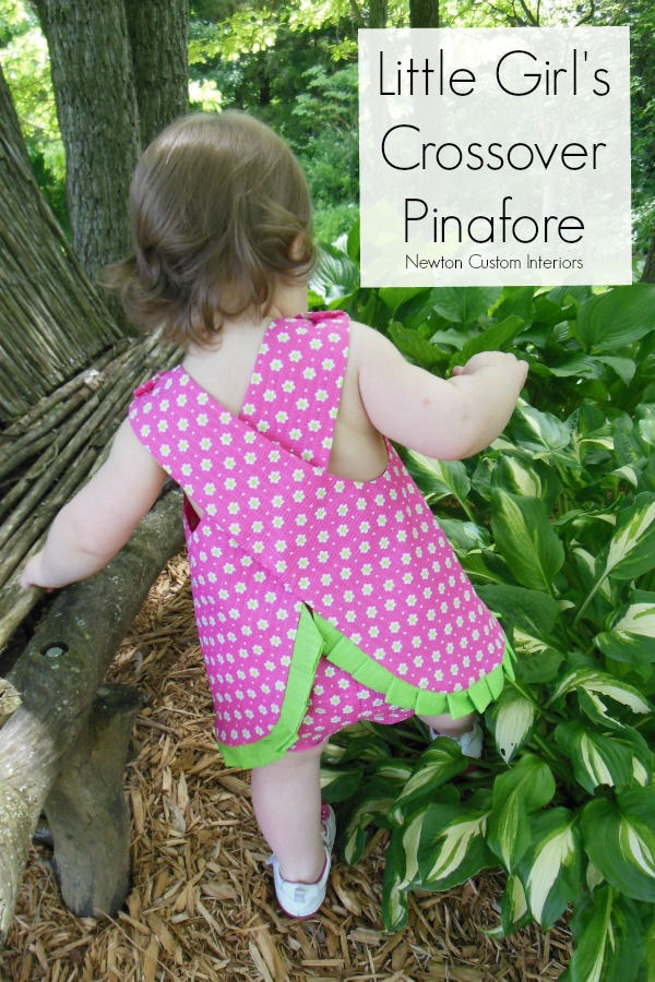 Little Girl's Crossover Pinafore from NewtonCustomInteriors.com