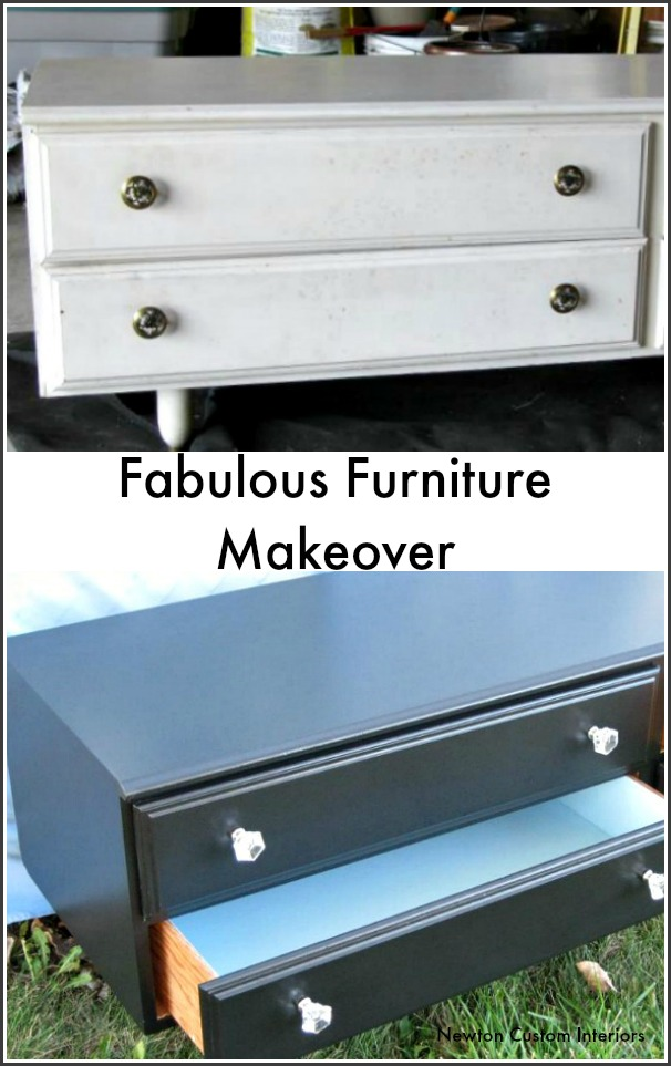 Fabulous furniture makeover. Update an old piece of furniture with this great DIY paint project.