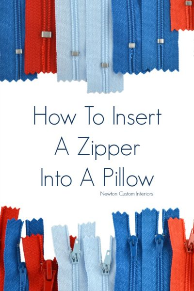 How To Put A Zipper In A Pillow