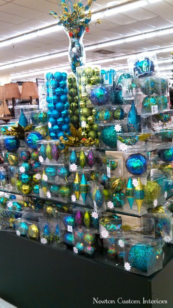 peacock colors x mas - Peacock Blue Christmas Decorations