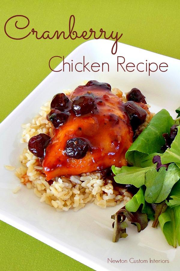 Cranberry Chicken Recipe - A delicious, easy recipe!