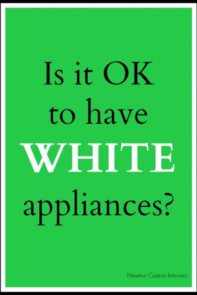 Is It OK To Have White Appliances?