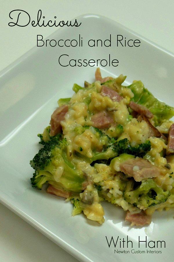 Broccoli & Rice Casserole With Ham