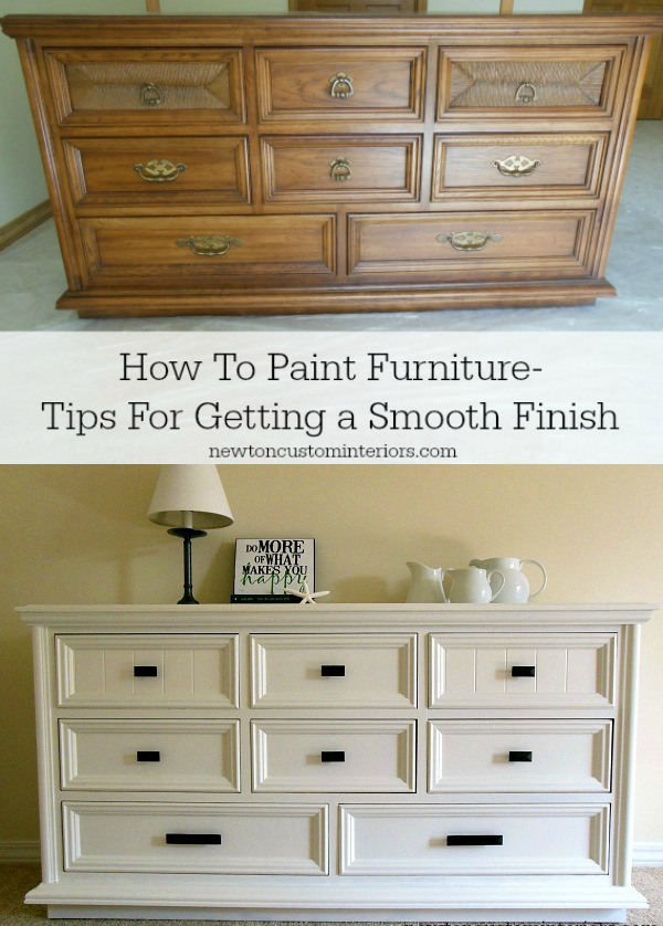 Repainted Furniture how to paint furniture - newton custom interiors