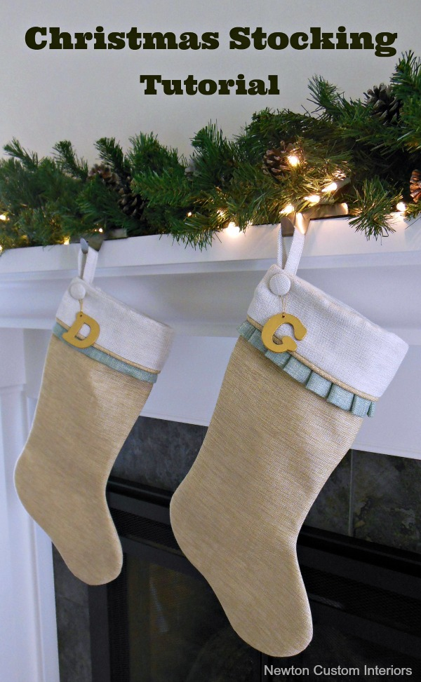 Christmas Stocking Tutorial - step-by-step sewing tutorial.