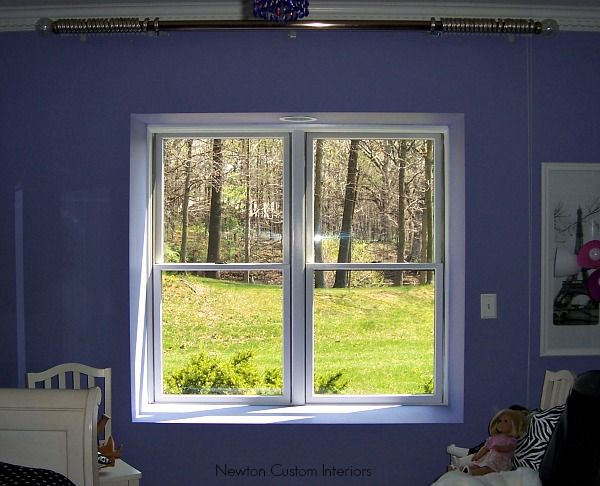 Client's window before drapery panels were installed.