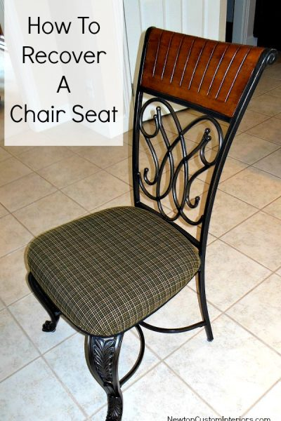 How To Recover A Chair Seat