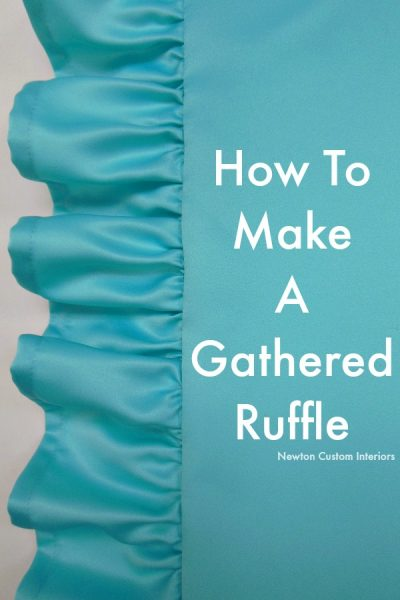 How To Make A Gathered Ruffle