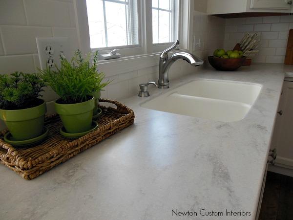kitchen sink area after