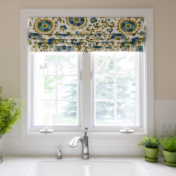 Roman Shade Valance - Newton Custom Interiors