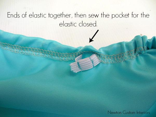 elastic sewn