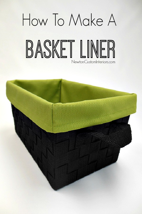 How To Make A Basket Liner from NewtonCustomInteriors.com