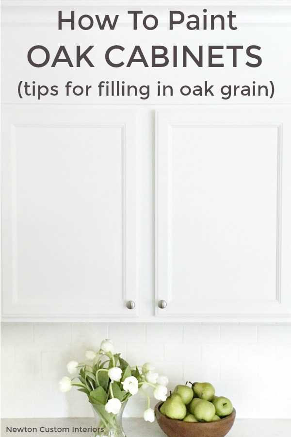 How To Paint Oak Cabinets Tips For Filling In Grain